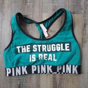 Cute VS pink sports bra